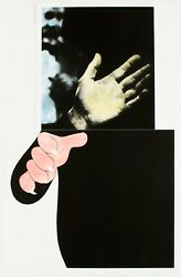 John Baldessari Two Hands With Distant Figure 1989-90. Signed Numbered Print