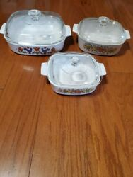 Vintage Corning Ware| Spice Of Life Set| Excellent Pre-owned Condition