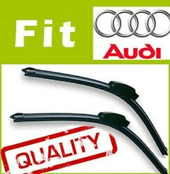 2 X Front Windscreen Wiper Blades Specific Fit Flat Beam For Audi