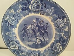 10.25 Historical Blue Spirit Of 76 Wedgwood Collector Plate