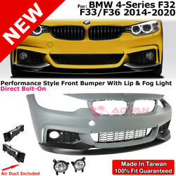 Performance Style Front Bumper Lip Fog Lamps For Bmw 4 Series 14-20 F32 F33 F36
