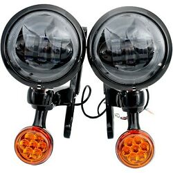 Rivco Products - Mv195 - 4.5in. Led Auxiliary Lights With Turn Signals