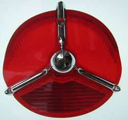 1957 Oldsmobile Super 88 And 98 Tail Light Lens With Chrome Trim Ornament