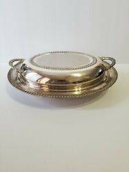 Vintage Silver Serving Dish English Silver Mfg. Corp. Mrr S Made In Usa