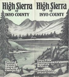 Ward Parcher / High Sierra Of Inyo County 1940