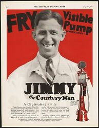 Vintage Magazine Ad Fry Visible Pump From 1926 Picturing Jimmy The Courtesy Man