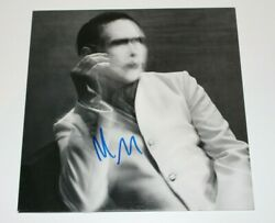MARILYN MANSON SIGNED 'THE PALE EMPEROR' ALBUM VINYL RECORD LP wCOA PROOF MM