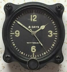 Longines Wittnauer Cal 63 7 Jewel Aircraft Clock Old Style With Skeleton Hands