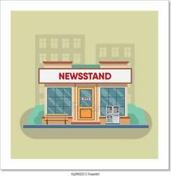 Newsstand Selling Newspapers And Art/canvas Print. Poster Wall Art Home Decor
