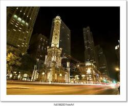 Water Tower Chicago Art/canvas Print. Poster, Wall Art, Home Decor