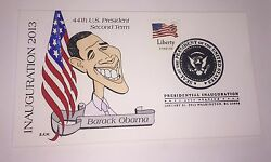 Barack Obama 2013 Inauguration Cover, Hand Painted By Barbara Montgomery