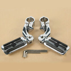 1.25 Highway Pegs Foot Pegs Mounts For Engine Bar Touring Softail Dyna Harley