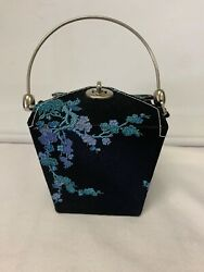 Womens Chinese Food Take Out Purse Flower Design Pattern