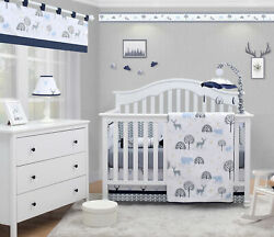 6 Piece Woodland Forest Deer Baby Boy Nursery Crib Bedding Sets By OptimaBaby