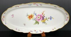 Meissen Germany Oval Fish Platter 22andrdquo Crossed Swords 1st Quality 1860-1924