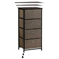 Oxkers Portable Dresser Storage Home Storage Tower with Faux Linen...