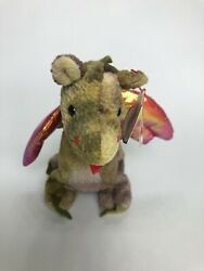 Authentic And Extremely Rare Ty Beanie Baby Scorch Dragon 1998 Originalandnbsp