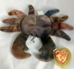 Claude The Crab - Rare Original Beanie Babies - Vintage 1996 With Special Tags