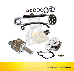 Timing Chain Kit And Oil And Water Pump For Nissan 240sx Axxess Stanza D21 2.4l
