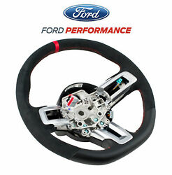 2016-2017 Shelby Gt350r M-3600-m350r Leather Steering Wheel W/ Red Stitching