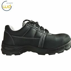 Mens Safety Work Shoes Steel Toe Black Breathable Leather Summer L-7222 $26.90