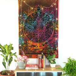 Indian Cotton Zodiac Mandala Poster Tapestry Dorm Decor Wall Hanging Tapestries