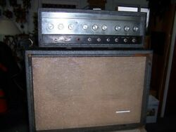 Andnbspsears Silvertone Model 1484 Twin Twelve Tube Head Amp And Cabinet