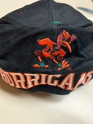 Nwt Miami Hurricanes Ajd Snapback Hat Deep Embroidered Graphics 80s Cap Pipe
