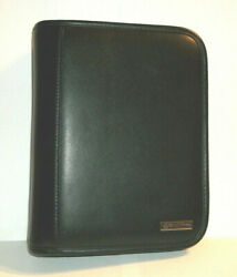 Franklin Covey Black Leather 6.5 X 8.5 Notebook Organizer Day Planner 6-ring