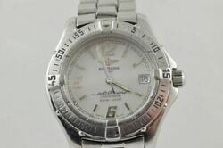 Breitling Colt Oceane Quartz A57350 Women's Watch Steel White With Band