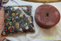 Vintage Buttons 15 Lbs Mixed Shapes Materials And Colors One Price Many Collect