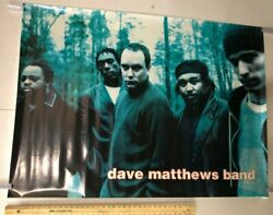 Vintage Music Poster Dave Matthews Band Group Members Forest Nature Background