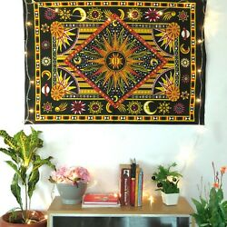 Sun Moon Cotton Poster Tapestry Bohemian Indian Hippie Wall Hanging Dorm Decor