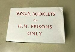 Rizla Full Box H.m. Prisons Only Rolling Papers 100 Booklets Rare Original Find
