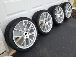20 Blaque Diamond Bd-f18 Silver Forged Wheels And Tires Fits F10 Bmw 528 535 550