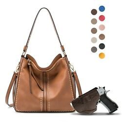 Large Concealed Carry Hobo Purse For Women With Crossbody Strap And Gun Holster