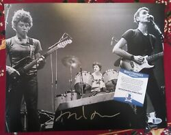 David Byrne Talking Heads Rare Music Signed Autographed 11x14 Photo Beckett