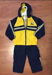 Al&Ray pants and jacket set blue&fuel low size 2T