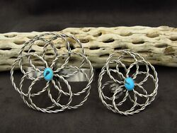 Southwestern Sterling Silver Turquoise Bracelet And Ring Set