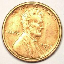 1918-s Lincoln Wheat Cent Penny 1c - Sharp Details - Rare Date