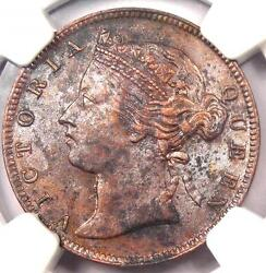 1883 Straits Settlements Victoria Half Cent 1/2c - Ngc Au - 1,200 Value In Xf