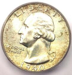 1940 Washington Quarter 25c - Certified Icg Ms67 - 308 Guide Value In Ms67