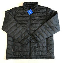 Columbia Mens Trail Puffer Thermal Coil Jacket Size L Black NWT