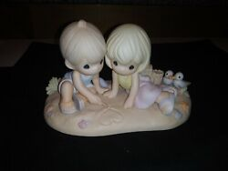 Precious Moments 730032 Washed Away In Your Love Limited Edition Beach Boy Girl