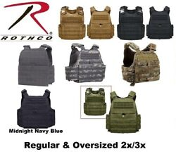 Rothco Molle Plate Carrier Tactical Vest Regular And Oversized 2x/3x 8922 - 1922