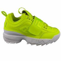 Fila Womenand039s Disruptor Ii Applique Safety Yellow Casual Athletic Sports Shoes