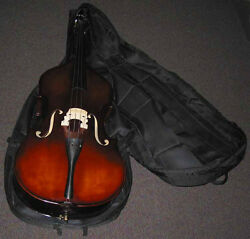 Fmi Upright Bass Soft Wheeled Case Rip Stop Nylon + Eleven Super Strong Handles