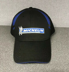 Black & Blue Michelin Man Tires Hat Baseball Cap Embroidered  New