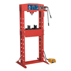 Sealey Air/hydraulic Press 30tonne Floor Type With Foot Pedal - Yk309fah
