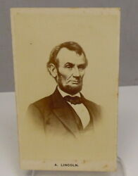 Antique President Abraham Lincoln Cdv Photo Cabinet Card Free Shipping